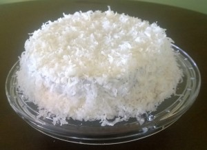 Cream cheese and coconut frosting